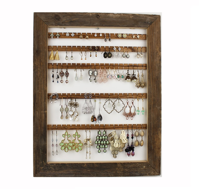 barn wood earring holder 1200