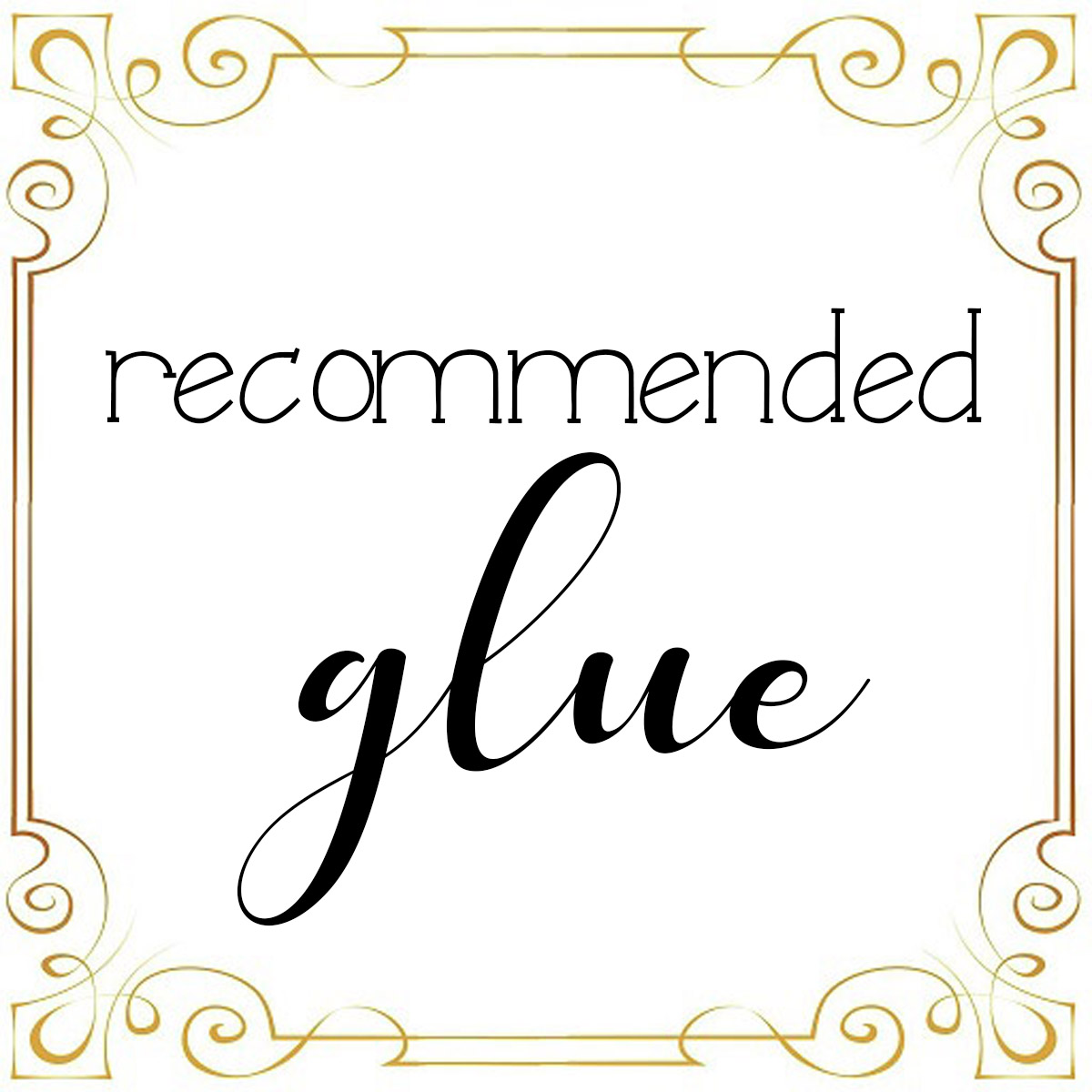 recommended glue