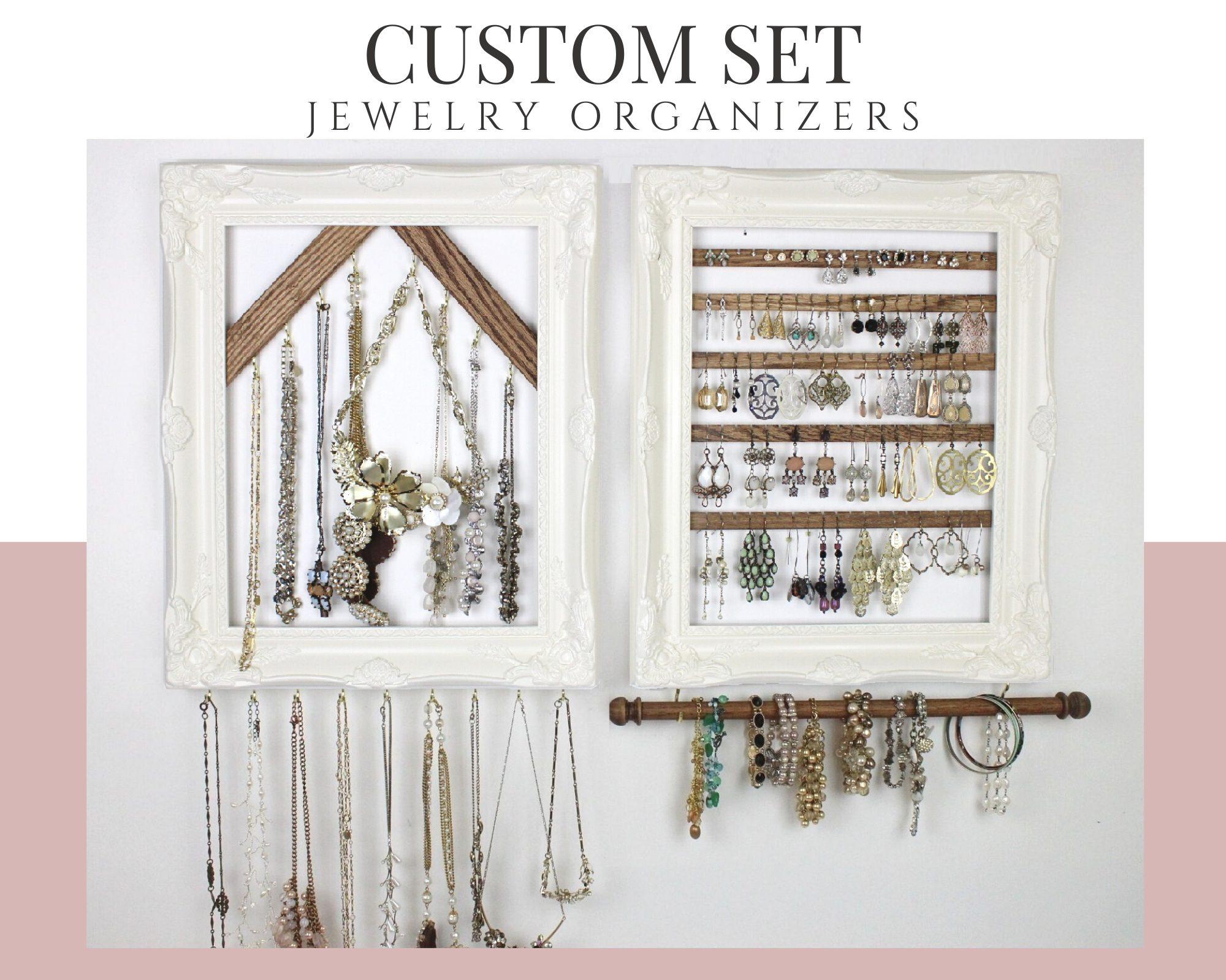 Wall Hanging Jewelry Organizer Set