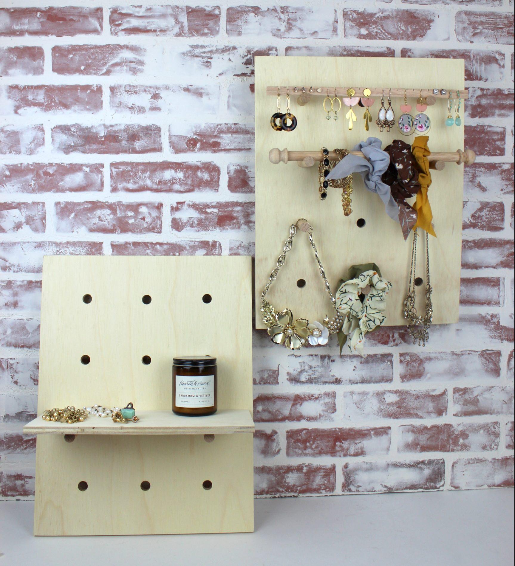 Pegboard Jewelry Display