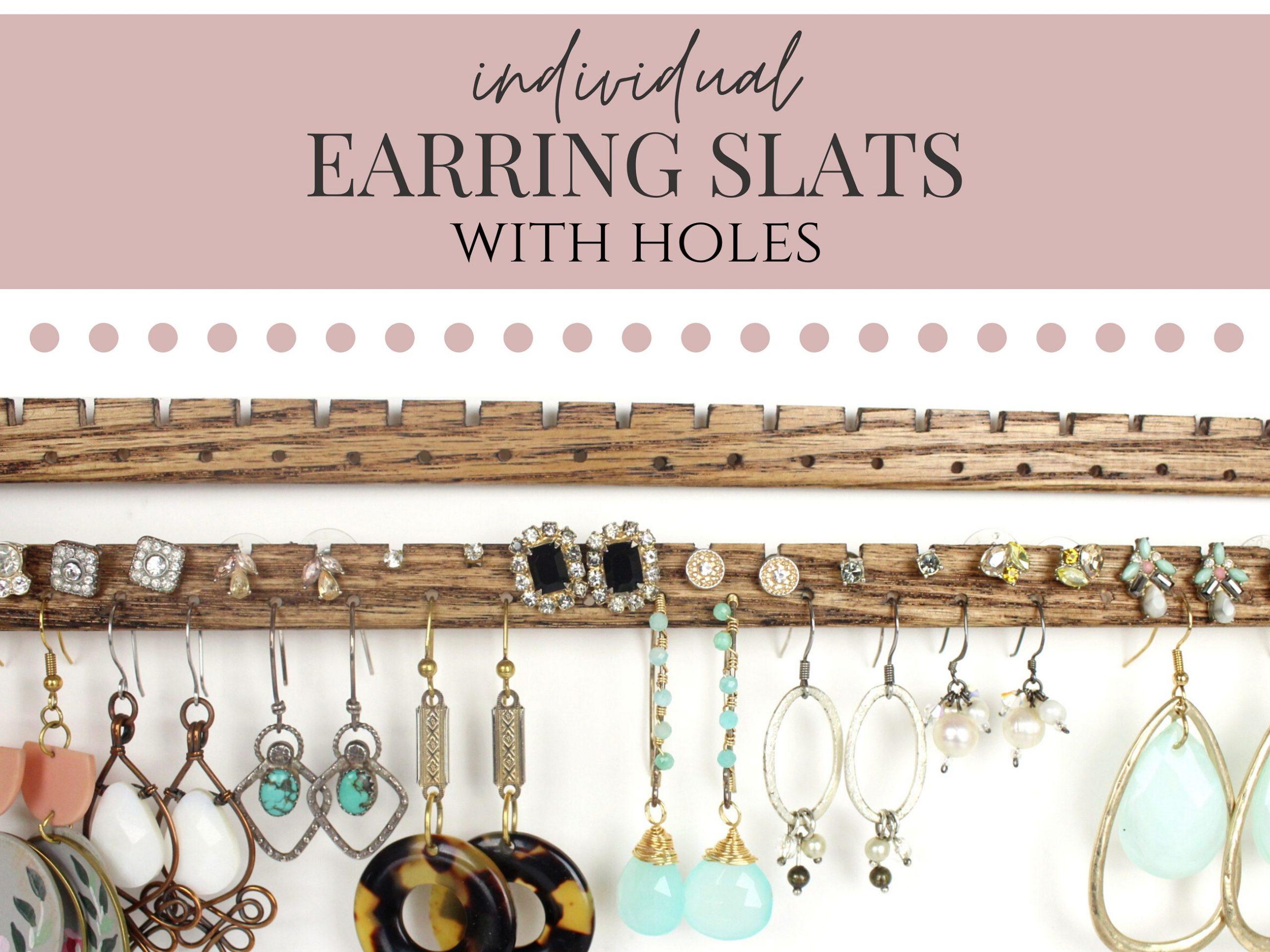 Earring Slats with Holes